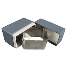 Boxed Sterling Silver Napkin Ring Birmingham Vintage c1956