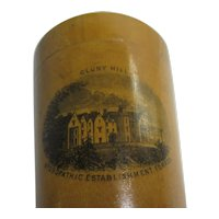 Cluny Hill, Forres Mauchline Ware Pot & Cover Antique Victorian c1890