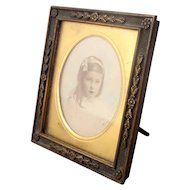 Small Antique Edwardian Brass Photo Frame c.1900