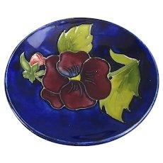 Moorcroft Pansy Flower Dish Vintage c1940