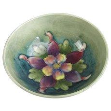 Moorcroft Columbine Flower Bowl Vintage c1940