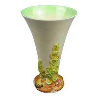 Clarice Cliff My Garden Trumpet Vase Art Deco c1930