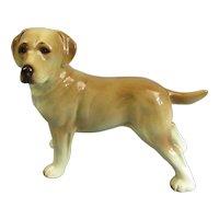 Ceramic Golden Retriever Dog Figurine Vintage C1960.