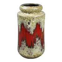West German Schuerich Lora Pottery Vase Vintage c1970