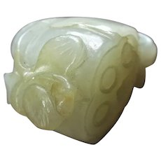 Small Chinese Jade Carving of a Lotus Pod Antique 19th Century