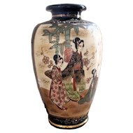 Antique Japanese Meiji Period Satsuma Vase (1868-1912)