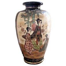 Antique Japanese Meiji Period Satsuma Vase (1868-1912)