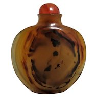Quality 18th Century Chinese Carnelian Snuff Bottle Antique