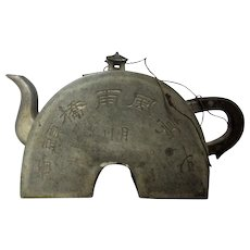 Very Unusual Antique Chinese Pewter Teapot c.1821-50