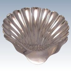 Sterling Silver Shell Dish by James Deakin & Sons Sheffield Antique 1887