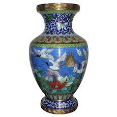 Antique Chinese Cloisonne Vase c.1900