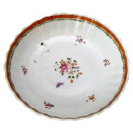 Antique Qianlong Small Chinese Famille Rose Dish  c.1736-95