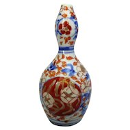 Small Antique Japanese Imari Double Gourd Vase Late 19th Century.