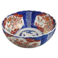 Japanese Imari Bowl Antique Meiji Late 19th Century.