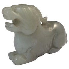 Chinese Carved Jade Mythical Animal Vintage.