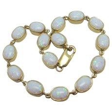 Fiery Opal 9k Gold Bracelet Vintage c1980