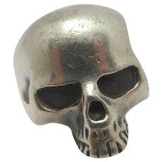 Skull Sterling Silver Ring Vintage c1980