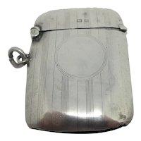 Vesta Case Sterling Silver English 1925 Vintage Art Deco