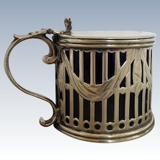 George III of England Silver Mustard Pot London Antique c.1787