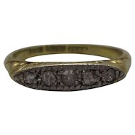 18ct Gold Platinum Diamond Ring Antique Edwardian c1910.
