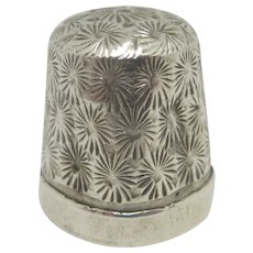 Sewing Thimble Sterling Silver Vintage Chester 1921 by Henry Griffith & Sons Ltd