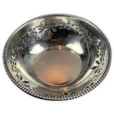 Sterling Silver Miniature Dish Art Deco Birmingham C 1923