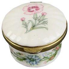 English Fine Bone China Pill Box by Wild Tudor Vintage