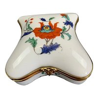 French Porcelain Trinket Pill Box Vintage c1980