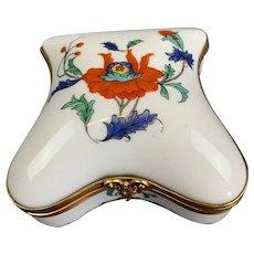 French Porcelain Trinket Pill Box Vintage c1980