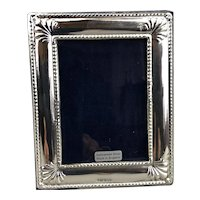 Sterling Silver Cushion Photo Picture Frame Millenium Vintage c2019