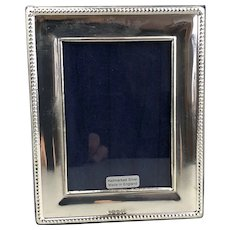 Sterling Silver Simple Embossed Photo Picture Frame Millenium Vintage c2019