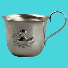 Silver Plate Little Danish Mug Vintage c1930