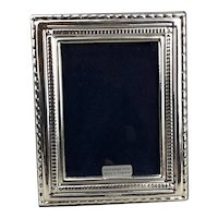Sterling Silver Repousse Photo Frame 21th Century