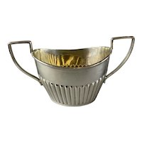 Sterling Silver Sugar Bowl By John Millward Banks Antique Art Nouveau Chester 1904