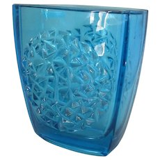 Vintage Czech 'Hobnail' Art Glass Vase by Rudolf Jurnikl, Sklo Union c1960s.