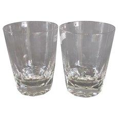 Pair Cut Glass Whisky Tumblers Antique c1850