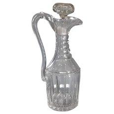 Pillar & Slice Cut Glass Claret Jug Antique c1830