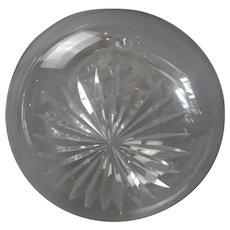 Shaft & Globe Cut Glass Decanter Antique c1900