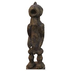 African Tribal Carved Wooden Figure 20th Century.