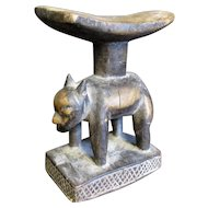 Vintage Small African Carved Tribal Headrest.