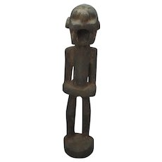 African Carved Wooden Figure Vintage 20th Century.