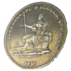 Sterling Silver Newcastle Shilling Token 1811