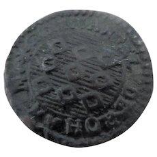 Maltease Knights Of Malta Copper Grano Coin Antique 18th Century Dated 1776.