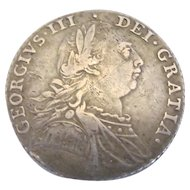 George III Shilling Coin Antique 1787
