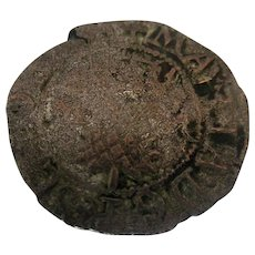 Mary Queen of Scots Billon Bawbee 6D Six penny Coin Antique 16th Century.