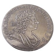 George I Crown Coin Forgery Antique 18th Century Dated 1718.