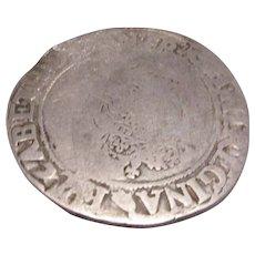 Elizabeth I 1558-1603 Shilling Coin Antique Elizabethan c. 1560.