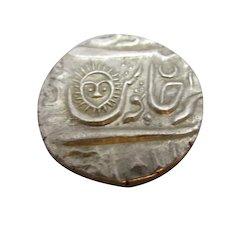 India Silver Coin Indore Ahalya Bai Rupee 1765-1795.