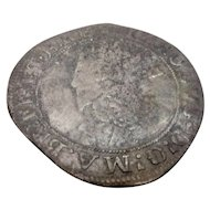 Silver Shilling Coin Reign Of Charles I 1625-1649 Antique 17th Century