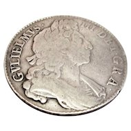 Silver Half Crown Coin Reign Of William III 1697
